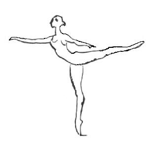 1st arabesque. Illustrated ballet dictionary