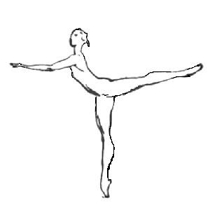 2nd arabesque. Illustrated ballet dictionary