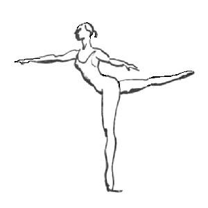 3rd arabesque. Illustrated ballet dictionary