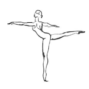4th arabesque. Illustrated ballet dictionary