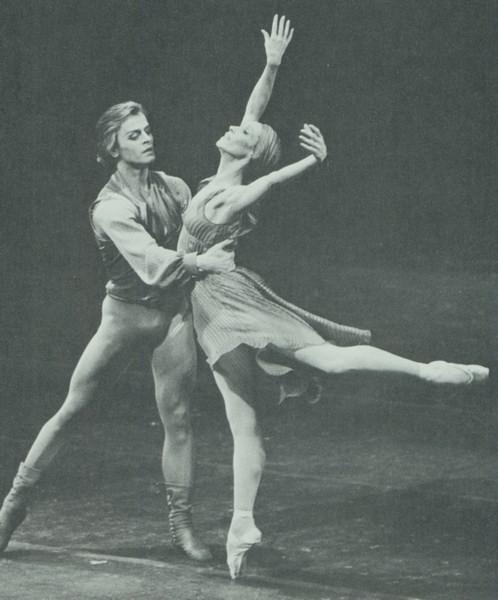Ballerina Natalia Makarova and Mikhail Baryshnikov
