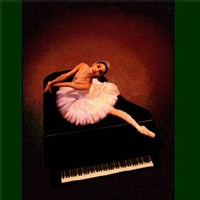 Ballerina on piano